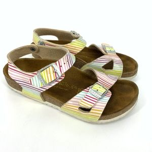 Birkenstock Rainbow Stripe Ankle Strap Sandals